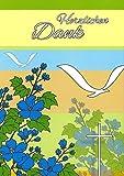 Danksagungskarten Konfirmation Junge Mädchen mit Innentext Motiv Vögel Kreuz 15 Klappkarten DIN A6 mit weißen Umschlägen Set Konfirmationskarten Dankeskarten Dankeschön Karten Kuvert Danke sagen (K76)