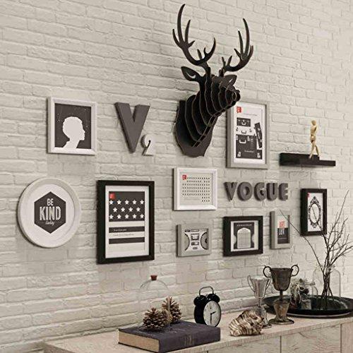 Cadres photo Photo Mur Bois Massif Salon Chambre Cadre Photographique créatif Papier Mural Restaurant Moderne Photo Simple Mur Européen Gros Plan