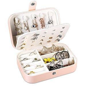 Schmuckkästchen Mädchen, Pamiyo Schmuck Aufbewahrungsbox Schmuckkoffer Klein, Kleines Reise Schmuckbox