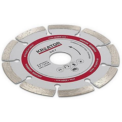 115 mm Discos para piedra de hormigón baldosas cerámicas de acero inoxidable de metal para amoladora angular sonnenflex lijadora para elegir C - 1 x Diamant trocken