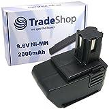 Trade de Shop Premium–Batería de Ni-Mh 9,6V/2000mAh para Hilti SF100-A SF100A, SFB105LC-SB10BD2000sustituye SBP10, 265605315078, 334584SPB105