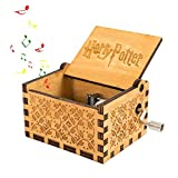 Womdee Harry Potter Hedwig's Theme Music Box, Hand Crank Music Box, Classic Antique Carved Wooden Music Box for Birthdays, Christmas Gift