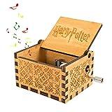 Caja de música de Hedwig, diseño de Harry Potter, manivela clásica...