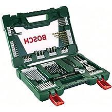 Bosch V-Line Set Punte TiN e bit TiN con Torcia Tascabile a Led e Chiave Inglese a Rullino, 83 Pezzi