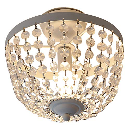 Grafelstein Deckenlampe, Chateau, weiß, Shabby chic, Deckenleuchte, mit Kristallen -