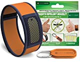 Naturaband Mosquito Repellent Bracelets with Clip and 5 Refills -