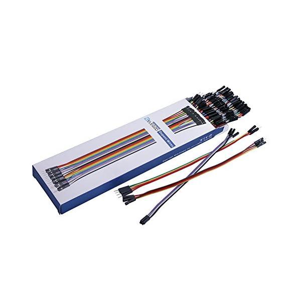 51W16yn2HuL. SS600  - Elegoo 120 Piezas de Cable DuPont, 40 Pines Macho-Hembra, 40 Pines Macho-Macho, 40 Pines Hembra-Hembra, Cables Puente para Placas Prototipo (Protoboard) para Arduino, Kit de Cables para Arduino
