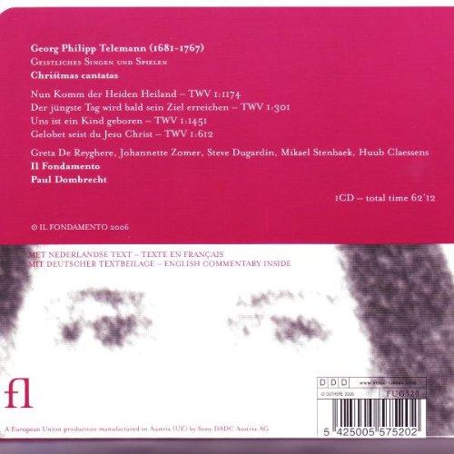 Georg Philipp Telemann: Geistliches Singen und Spielen; Christmas Cantatas