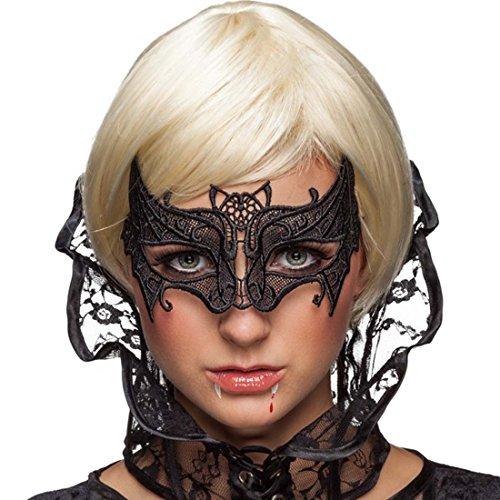 Vampir-maske Für Erwachsene (Venezianische Fledermausmaske Augenmaske Vampir Gothic Maske Maskenball Spitzenmaske Fledermaus Vampirkostüm Ballmaske Fledermauskostüm Zubehör)