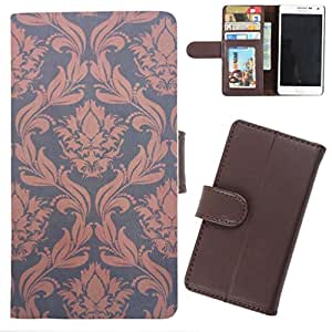 DooDa - For Karbonn A50 PU Leather Designer Fashionable Fancy Wallet Flip Case Cover Pouch With Card, ID & Cash Slots And Smooth Inner Velvet With Strong Magnetic Lock