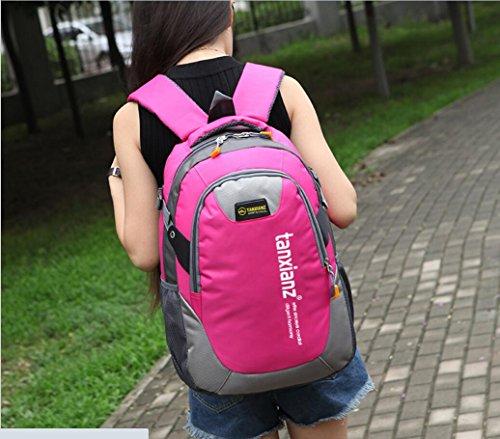 LQABW Spielraum-Schulter-Rucksack-Lichtwasserdichte Sport Im Freien Backpacking Safari Camping-Tasche Bergwanderrucksack Black