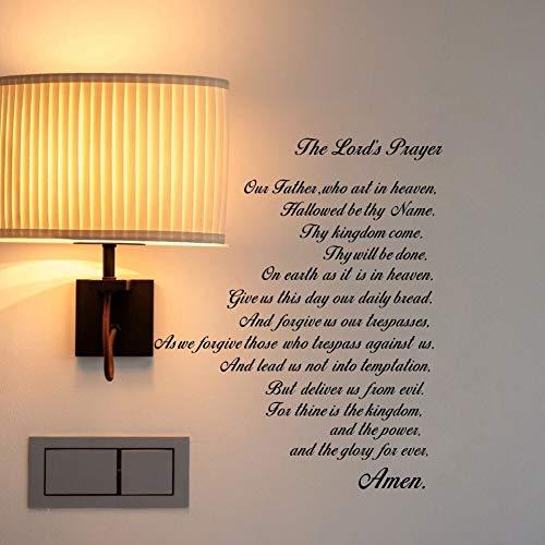ser Bibel Wandtattoo Unser Vater Vinyl Wandkunst Schrift Zitat Glaube Home Christian Decor 48 * 58 cm ()