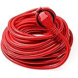 as-Schwabe 51013 Rallonge électrique Câble PVC rouge 10m H05VV-F 3G1,5 Intérieur / IP20 (Import Allemagne)