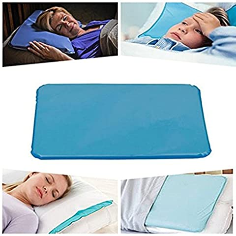 Icy Relieve Headache Fever Sleeping Cooling Pillow Insert Pad POUR UN SOMMET RESTFUL RELAXANT Réduit les migraines Hot Flashes Fever Multi Functional Cool Gel Oreillers Soft Gel Magic Pillow Mat Par Ungfu Mall