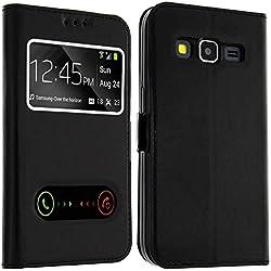 Mobitech Pro MOB295 Etui Coque Flip pour Samsung Galaxy J7 Noir