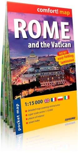 Roma, plano callejero de bolsillo plastificado. Escala 1:15.000. ExpressMap. (Comfort ! Map)