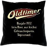 Deko-Sofa-Couch-Kissen mit Füllung Farbe: schwarz Geschenk zum 65 Geburtstag Oldtimer Baujahr 1952
