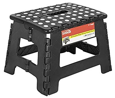 Folding Step Stool - 9 inch Height Premium Heavy Duty Foldable Stool For Kids & Adults, Kitchen Garden Bathroom Stepping Stool From ImiKas - low-cost UK light store.