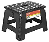Folding Step Stool - 9 inch Height Premium Heavy...