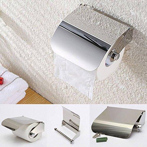 Ethnic Toilet Tissue Paper Roll Holder / Dispenser With Lid – Stainless Steel Bathroom