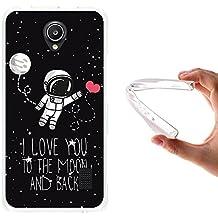 WoowCase - Funda Gel Flexible { Huawei Ascend Y635 } Astronauta Corazón - I Love To the Moon And Back Carcasa Case Silicona TPU Suave