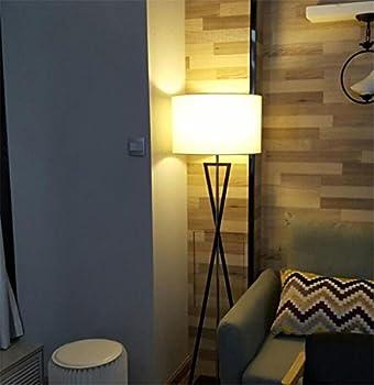 Atmko®black Reading Floor Lamp Fabric Lampshade Wrought-iron Lamp Base Living Room Bedroom Bedside Modern Lighting Decor 2