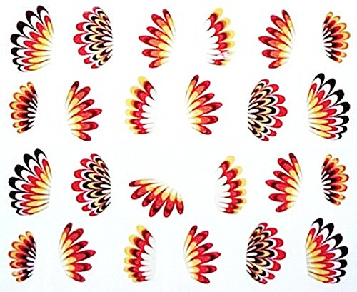 Nail art manucure stickers ongles décalcomanie scrapbooking: plumes multicolores design