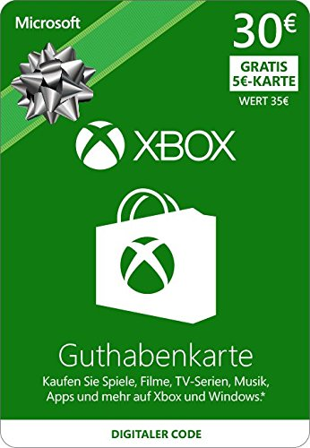 Xbox Live - 30 EUR Guthaben und 5 Euro Gratis [Xbox Live Online Code]