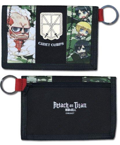Portafogli dall'Anime Attack on Titan-SD Toys Group licenza ge80221, motivo mimetico