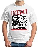 OM3 - Hasta LA Victoria Siempre - T-Shirt Revolution Che Guevara Cuba Havana Swag Emo, 5XL, Weiß