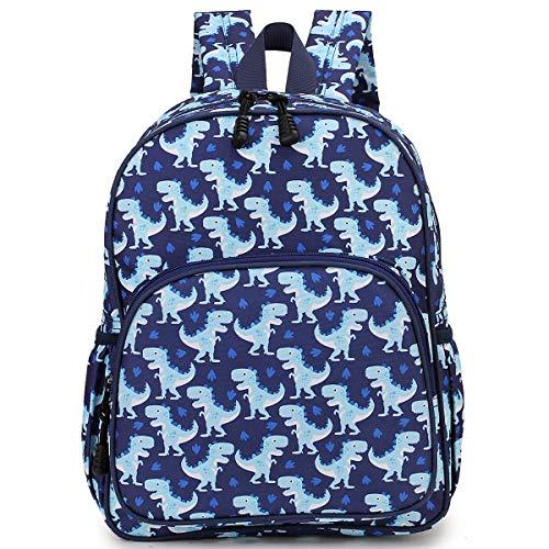 Stil Brustgurt (RAVUO Kinder-Rucksack, niedlicher Kleinkind-Rucksack für Mädchen und Jungen, Schulrucksack mit Brustgurt, Dinosaurier Blau (Blau) - USSRA8820DIN)