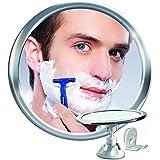 Niebla espejo de ducha bano con rotación, bloqueo de succión | Brazo ajustable para fácil posicionamiento, cromo, 1 unidad | Espejo de Baño Antivaho