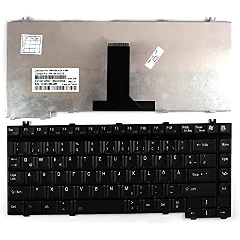 Toshiba Satellite A75-S209 Nero Layout Tedesco Tastiera sostitutiva per