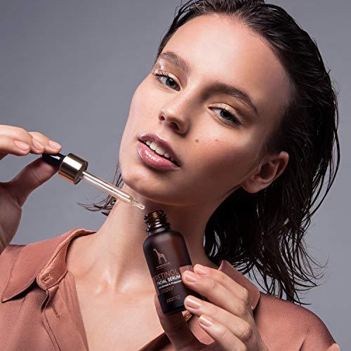 Retinol Serum – Mother Nature® | Anti-Aging – Pflege auch für empfindliche Haut | Hochdosiert 2,5% Retinol für Gesicht & Haut | inkl. Hyaluronsäure und Vitamin E | 30 ml - 3