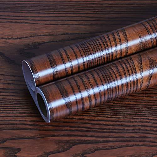 Livelynine Abnehmbare Arbeitsplatte Peel and Stick Tapeten Holz Contact Paper für Schränke Küche Möbel Esszimmer Wand Papier Dekorationen Holz Regal Liner Holz Papier Papier Dicke 39,8 x 19,8 cm