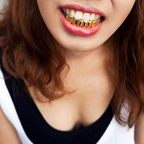 Imagen de v sol disfraz accesorios hip hop grillz dientes colmillo para halloween dorado color b alternativa