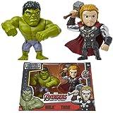 Marvel Avengers Action Figures - Set 2 Personaggi Giocattolo Hulk Giocattolo Thor Giocattolo - Supereroi Personaggi - Figura da Collezione - Gadget Originale Perfetto Come Idea Regalo
