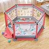 Laufgitter, Kinder-Laufstall Baby-Spielzaun Atmungsaktives, wasserdichtes Netz Einfach zu installieren und Sicherheitszaun zu tragen (Farbe : D)
