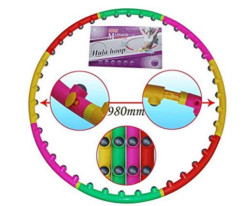 HULAQ Erwachsene Hula Hoop Detachable Fitness Hula Hoop Fitness Circle Qualität gewichtet für Übung, Tanz, Fitness & Fun!