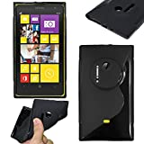 ebestStar - Cover Compatibile con Nokia Lumia 1020 Custodia Protezione S-Line Design Silicone Gel TPU Morbida e Sottile, Nero [Apparecchio: 130.4 x 71.4 x 10.4mm, 4.5'']