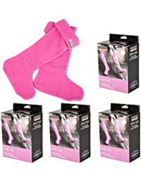 4x Pairs Town & Country Wellington Boot Socks Fleecy Liners -Pink- 3-5