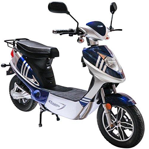 Rolektro eco-City 20 V.2 Blau-Silber Elektroroller 20 Km/H Straßenverkehrszulassung 500W E-Scooter Keine Helmpflicht