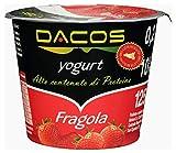 Yogurt proteico Dacos Fragola - 16 vasetti 200 gr - cremoso magro - Spedizione 24 ore