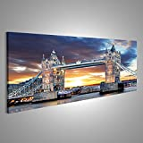 Cuadro Cuadros Londres - Reino Unido Tower Bridge Impresión sobre lienzo - Formato Grande - Cuadros modernos