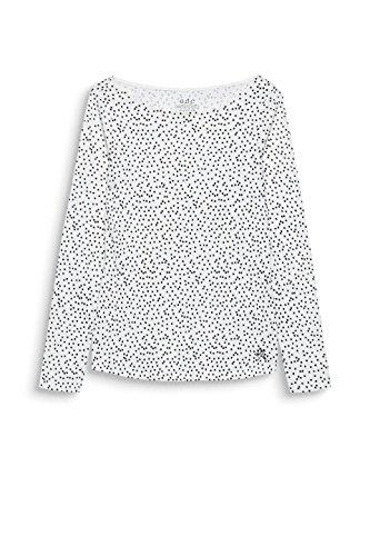 edc by Esprit, Maglia a Maniche Lunghe Donna Bianco (Off White 110)