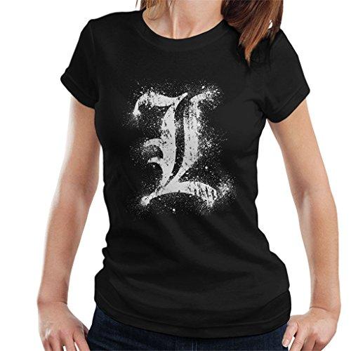 Cloud City 7 Death Note L Symbol Women's T-Shirt