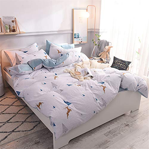 YUNSW Plaid Printing Bettwäsche Single Double Bettbezug Kissenbezug Bettwäsche Twin Full Queen King Size Heimtextilien F 220x240cm / 87x94in -