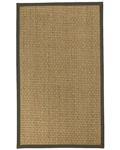 6 Moos Teppich (NaturalAreaRugs Basketweave Seegras Bereich Teppich, moos, 2' 6