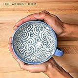 Keramik Tasse/Milchkaffeetasse mit Verspielten Mustern, getöpfert