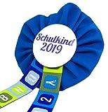 AnneSvea Orden Schulkind 2019 blau Einschulung Schultüte Zuckertüte Deko Geschenk Mitbringsel Anstecker